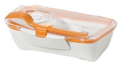 Ланч-бокс Bento Box (0.5 л), оранжевый, 19х12.5х5.5 см