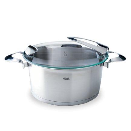 Кастрюля Солеа, 20 см (3.2 л), матовая, толщина дна 12 ммПосуда<br>Эксклюзивный дизайн кастрюли поднимет настроение хозяйке, а масса полезных функций упростит процесс приготовления пищи. Строго придерживаться рецепта поможет мерная шкала, а при сливе воды специальный ободок не позволит испачкать кастрюлю. Кастрюля может применяться на всех видах плит, благодаря дну CookStar. Оно же позволяет существенно сэкономить энергию.<br><br>Серия: Solea