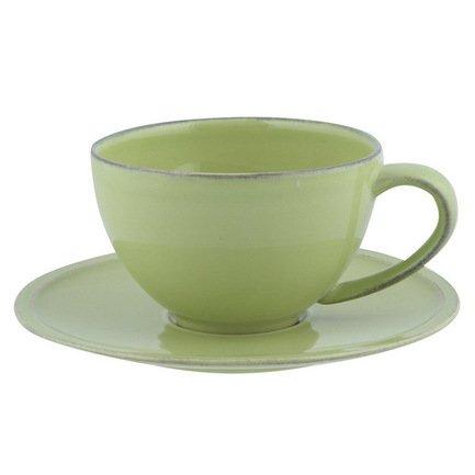 Чайная пара Friso, зеленаяЧашки и Кружки<br>Вы с удовольствием насладитесь чаем благодаря изящному керамическому набору из кружки и блюдца. Его классические формы позволяют сочетать набор с любыми другими предметами чайной сервировки. Керамика позволят почувствовать все ноты чайного букета, поэтому вы сможете в полной мере ощутить аромат напитка. Эта чайная пара может стать отличным подарком для коллеги или друга, и каждая новая чашка чая будет приятным поводом вспомнить о вас.<br><br>Серия: Friso
