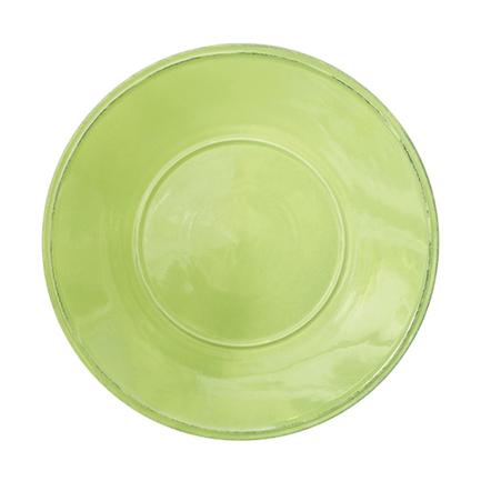 Тарелка Friso, 34 см, зеленаяТарелки и Блюдца<br>Тарелка большого диаметра используется для подачи основных блюд. Ее размер позволяет сделать красивую презентацию и удивить ваших приглашенных своей фантазией и профессионализмом. Классический строгий дизайн позволяют использовать эту тарелку для домашних обедов и торжественных случаев.<br><br>Серия: Friso