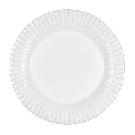 Тарелка Village, 22 см, белая, покрытие глазурь Costa Nova GAP223-02203B
