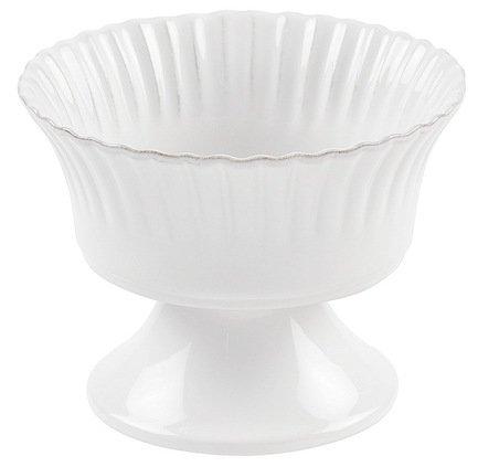 Чаша на ножке Village, 16x12.5 см, белая, покрытие глазурьСалатницы, Супницы<br>Небольшая чаша на широкой устойчивой ножке может использоваться в качестве индивидуального салатника, в котором можно подать порцию теплого салата каждому гостю. В чаше удобно также сервировать холодные десерты, например мороженое, или сочные свежие фрукты.<br><br>Серия: Village