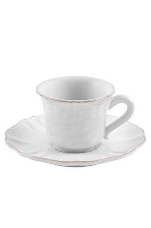 Чайная пара LisaЧашки и Кружки<br>Вы с удовольствием насладитесь чаем благодаря изящному керамическому набору из кружки и блюдца. Его классические формы позволяют сочетать набор с любыми другими предметами чайной сервировки. Керамика позволят почувствовать все ноты чайного букета, поэтому вы сможете в полной мере ощутить аромат напитка. Эта чайная пара может стать отличным подарком для коллеги или друга, и каждая новая чашка чая будет приятным поводом вспомнить о вас.<br><br>Серия: Lisa