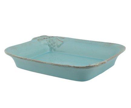 Поднос Mediterranea, 22x22 см, голубойПодносы и Блюда<br>Этот небольшой керамический поднос можно использовать для различных целей: на нем можно красиво подать бутерброды, в том числе и горячие, или же использовать для оформления десерта. На нем также красиво будут смотреться две небольшие чашечки с ароматным чаем.<br><br>Серия: Mediterranea