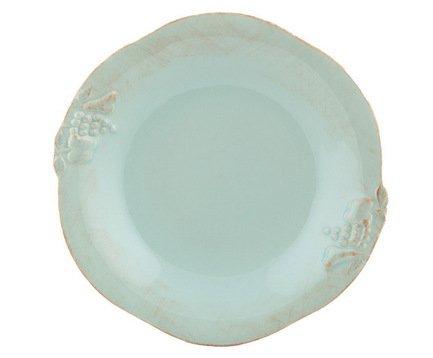 Тарелка Mediterranea, 9x9 см, голубая, покрытие глазурь