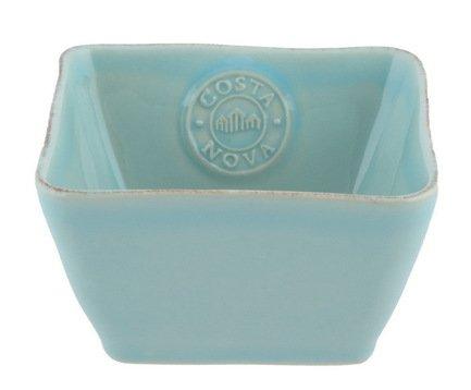 Чаша Nova, 12x12x6 см, голубая, покрытие глазурьСалатницы, Супницы<br>Чаша небольшого диаметра, изготовленная из керамики, довольно практична и удобна. Она может использоваться как пиала для порционной подачи каш, супов или спагетти. Также она пригодится для индивидуальной подачи салатов.<br><br>Серия: Costa Nova Nova