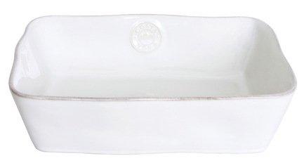 Блюдо прямоугольное Nova, 25 см, белое, покрытие глазурь