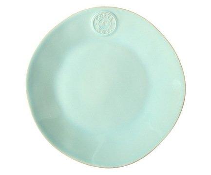 Тарелка Nova, 25 см, голубая, покрытие глазурьТарелки и Блюдца<br>Плоская керамическая тарелка среднего размера универсальна. Она пригодится для подачи десерта, кондитерских изделий или фруктов. Ее также можно использовать, как подстановочное блюдо для персональных салатников и пиал. Благодаря прочности керамики вы можете пользоваться тарелкой ежедневно, в то время как, строгий классический позволяет сервировать ее и для более торжественных случаев.<br><br>Серия: Costa Nova Nova