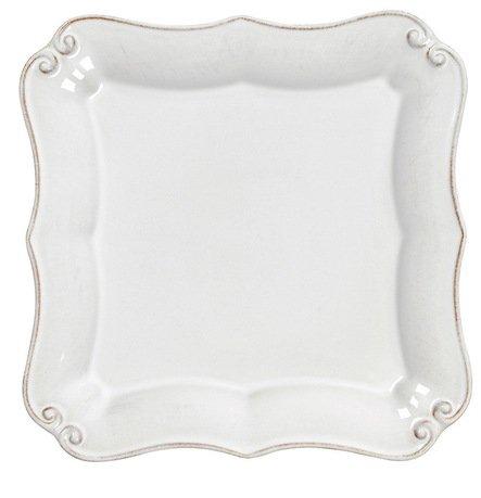 Тарелка квадратная Barroco, 14x14 см, белая, покрытие глазурьТарелки и Блюдца<br>Плоская керамическая тарелка среднего размера пригодится для подачи закусок, десерта, кондитерских изделий или фруктов. Благодаря прочности керамики вы можете пользоваться тарелкой ежедневно, в то время как, строгий классический позволяет сервировать ее и для более торжественных случаев.<br><br>Серия: Barroco