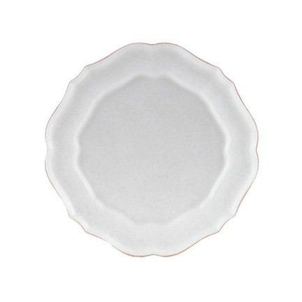 Тарелка Impressions, 30 см, белаяТарелки и Блюдца<br>Тарелка большого диаметра используется для подачи основных блюд. Ее размер позволяет сделать красивую презентацию и удивить ваших приглашенных своей фантазией и профессионализмом. Классический строгий дизайн позволяют использовать эту тарелку для домашних обедов и торжественных случаев.<br><br>Серия: Impressions