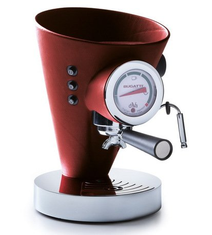 Кофеварка Espresso Diva, кожа, красная