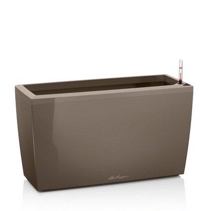 Кашпо Караро 75 с системой полива, серо-коричневое от Superposuda