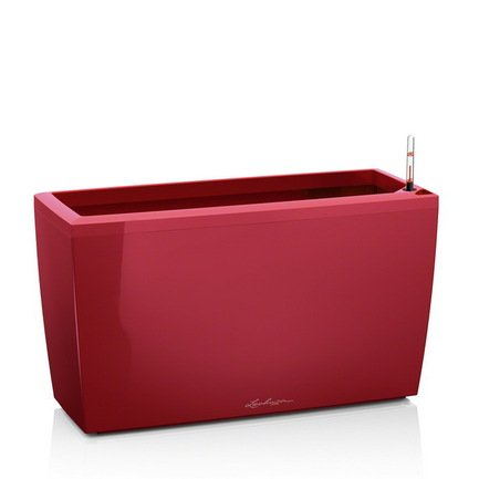 Кашпо Караро 75 с системой полива, красное от Superposuda