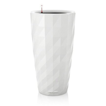 Кашпо Диамант, белое, с системой полива Lechuza 15700
