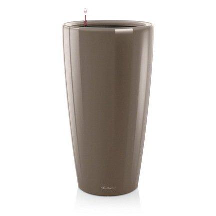 Кашпо Рондо 40, серо-коричневое, с системой поливаКашпо<br>Кашпо размером 40х75 см предназначено для посадки растений с высотой побегов до 100 см. Кашпо укомплектовано съемным горшком с объемом посадочной площади – 22 литра. Вместимость резервуара для воды съемного лотка – около 5.6 литров. Запатентованная система автополива обеспечивает растения питательными веществами и влагой, которые необходимы для их оптимального роста в течение 12 недель. Контролировать уровень воды удобно благодаря специальному индикатору. Съемный горшок легко вынимать и заменить на месте, его просто транспортировать и хранить.<br><br>Серия: Premium Rondo