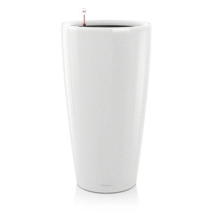 Кашпо Рондо 32, белое, с системой поливаКашпо<br>Кашпо размером 33х56 см предназначено для посадки растений с высотой побегов до 60 см. Кашпо укомплектовано съемным горшком с объемом посадочной площади – 13 литров. Вместимость резервуара для воды съемного лотка – около 4 литров. Запатентованная система автополива обеспечивает растения питательными веществами и влагой, которые необходимы для их оптимального роста в течение 12 недель. Контролировать уровень воды удобно благодаря специальному индикатору. Съемный горшок легко вынимать и заменить на месте, его просто транспортировать и хранить.<br><br>Серия: Premium Rondo