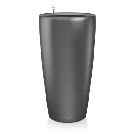 Кашпо Рондо 32, антрацит, с системой поливаКашпо<br>Кашпо размером 33х56 см предназначено для посадки растений с высотой побегов до 60 см. Кашпо укомплектовано съемным горшком с объемом посадочной площади – 13 литров. Вместимость резервуара для воды съемного лотка – около 4 литров. Запатентованная система автополива обеспечивает растения питательными веществами и влагой, которые необходимы для их оптимального роста в течение 12 недель. Контролировать уровень воды удобно благодаря специальному индикатору. Съемный горшок легко вынимать и заменить на месте, его просто транспортировать и хранить.<br><br>Серия: Premium Rondo