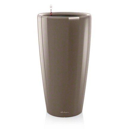Кашпо Рондо 32, серо-коричневое, с системой полива Lechuza 15784