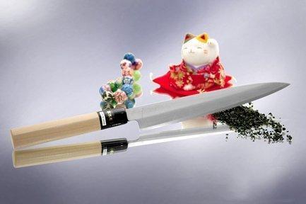 Традиционный Японский нож Янаги для сашими,Ножи для тонкой нарезки<br>Нож для приготовления традиционных блюд японской кухни, таких как: сашими, суши и роллы. Односторонняя заточка лезвия позволит правильно разделать и нарезать продукт, что необходимо для соблюдения настоящего вкуса рыбы.<br><br>Серия: Japanese Knife