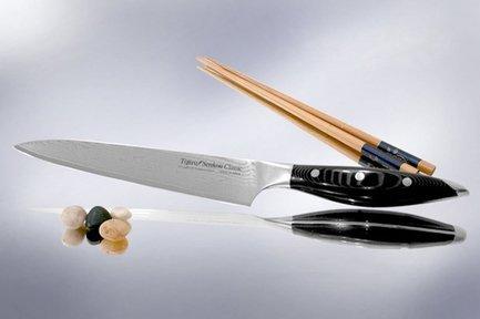 Поварской нож Senkou CLASSIC, 21 см, сталь VG10, 63 слояПоварские ножи<br>Любимый нож как начинающих, так и профессиональных поваров. Универсален в использовании и прекрасно сбалансирован. Может применяться для чистки, шинковки, нарезки, перерубания тонких косточек и прочих работ. Настоящая рабочая лошадка среди ножей.<br><br>Серия: Tojiro Senkou Classic