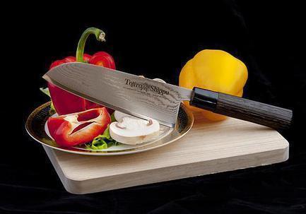 Поварской японский нож Сантоку Shippu, 16.5 см