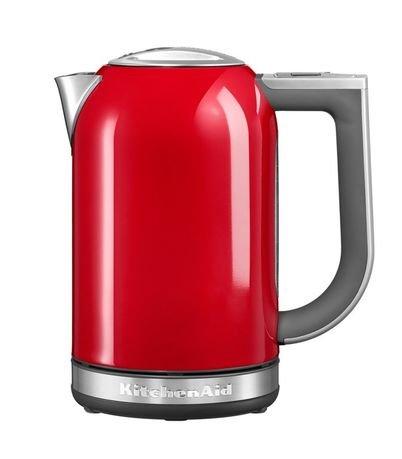 Электрочайник (1.7 л), красныйЧайники электрические<br>Новая модель 2014 года. Красивый и практичный чайник - отличный выбор для ежедневного использования. Яркий и стильный чайник объемом 1,7 литров удобен для большой семьи. Он довольно мощный, поэтому быстро вскипятит или подогреет воду на чай для всей семьи. Чайник в стальном корпусе практичен, надежен и долговечен.     В этом чайнике вы сможете не только закипятить воду, но и нагреть ее до нужной вам температуры от 50&amp;deg; C до 100&amp;deg; C. Для этого есть 6 температурных режимов, из которых вам нужно будет выбрать подходящий, подбирая его под тип завариваемого напитка. Когда чайник нагреет воду, то он может поддерживать нужную температуру в течение получаса. Текущую температуру воды, налитой в чайник, можно узнать, обратив внимание на дисплей. Кстати, для этого необязательно ставить чайник на основание. Правильно изогнутая ручка с внутренней части имеет мягкое покрытие, благодаря чему пальцы не соскальзывают во время переноса чайника или разливания горячей воды по чашкам.     Характеристики:   Мощность: 2400 Вт  Объем: 1.7 л  Размеры: 25.7х21.8х15 см<br>