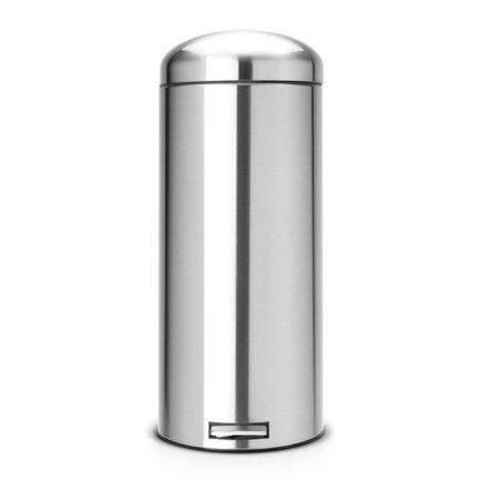 Мусорный бак Retro МС (30 л), 72х29.2х39 см, стальной матовый, с защитой от отпечатков пальцев