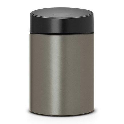 Ведро для мусора с крышкой Slide (5 л), 32.5х20.5х22 см, платиновое