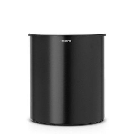 Корзина для бумаг (7 л), 21.3х23.5 см, матовая черная от Superposuda