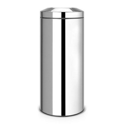 Несгораемая корзина для бумаг (30 л), 29.3х68.5 см, стальная полированная от Superposuda