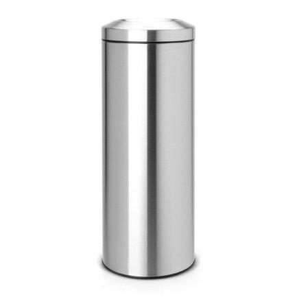 Несгораемая корзина для бумаг (20 л), 25.1х67.5 см, матовая стальнаяКорзины для бумаг<br>Не кажется ли Вам опасным беспечно выбрасывать сигаретные окурки или спички в обычную корзину для бумаг? Для таких целей есть очень хорошо продуманный стильный и практичный мусорный бак Flame Guard. Компактная и безопасная несгораемая корзина для бумаг идеально подходит для дома и офиса. Внутри бака есть съемное металлическое ведро, которое не ржавеет и легко чистится. Конструкция мусорного бака позволяет практически полностью скрыть содержимое этого ведра от глаз. Если в мусорный бак попадает огонь, съемный огнетушитель автоматически перекрывает доступ кислорода, и возгорание прекращается. Несгораемая корзина для бумаг Flame Guard протестирована и сертифицирована RWTV Германии. Производитель дает на модель гарантию 10 лет.<br>