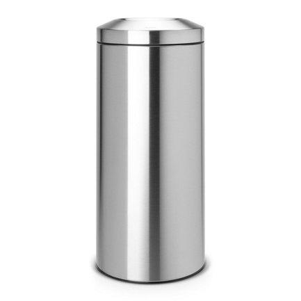 Несгораемая корзина для бумаг (30 л), 29.3х68.5 см, матовая стальнаяКорзины для бумаг<br>Не кажется ли Вам опасным беспечно выбрасывать сигаретные окурки или спички в обычную корзину для бумаг? Для таких целей есть очень хорошо продуманный стильный и практичный мусорный бак Flame Guard. Компактная и безопасная несгораемая корзина для бумаг идеально подходит для дома и офиса. Внутри бака есть съемное металлическое ведро, которое не ржавеет и легко чистится. Конструкция мусорного бака позволяет практически полностью скрыть содержимое этого ведра от глаз. Если в мусорный бак попадает огонь, съемный огнетушитель автоматически перекрывает доступ кислорода, и возгорание прекращается. Несгораемая корзина для бумаг Flame Guard протестирована и сертифицирована RWTV Германии. Производитель дает на модель гарантию 10 лет.<br>