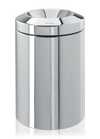 Несгораемая корзина для бумаг (15 л), 25.1х37.5 см, стальная полированная
