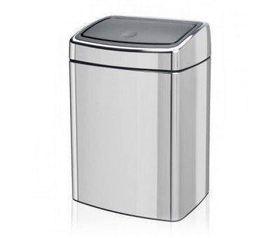 Ведро для мусора Touch Bin прямоугольное (10 л), 40х27.5х22.5 см, стальное полированное
