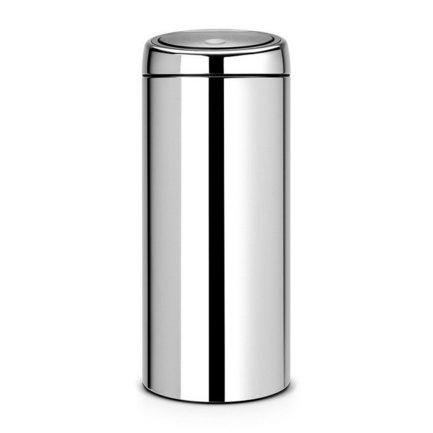 Мусорный бак Touch Bin (30 л), 31х72.5 см, стальной полированный