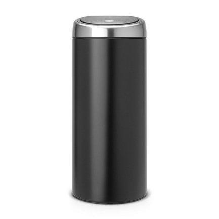 Мусорный бак Touch Bin (30 л), 31х72.5 см, матовый черный