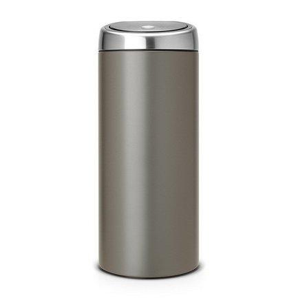 Мусорный бак Touch Bin (30 л), 31х72.5 см, платиновый