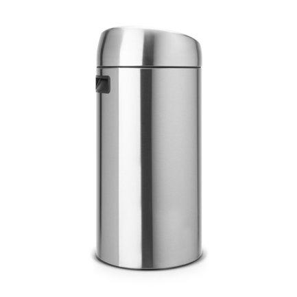 Мусорный бак Touch Bin (45 л), 37х75.5 см, матовый стальной, с защитой от отпечатков пальцев