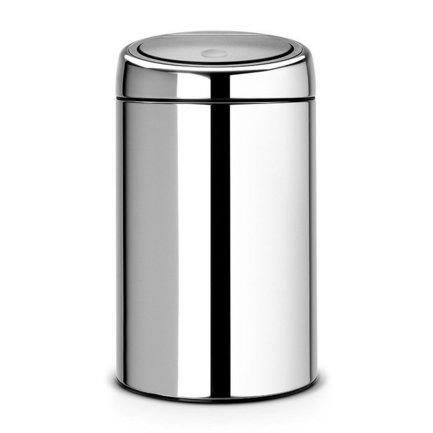 Мусорный бак Touch Bin (20 л), 30х51.5 см, стальной полированный