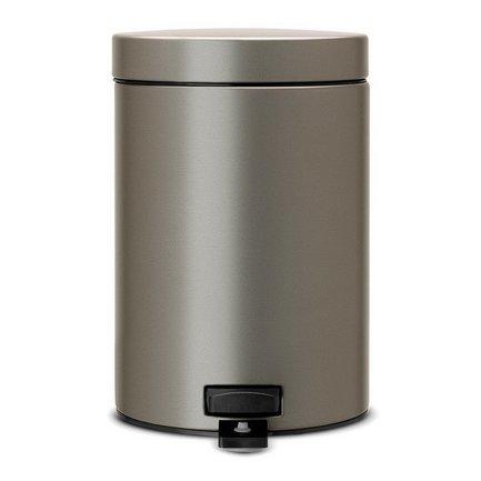 Ведро для мусора с педалью (3 л), 25х17х23.5 см, платиновое