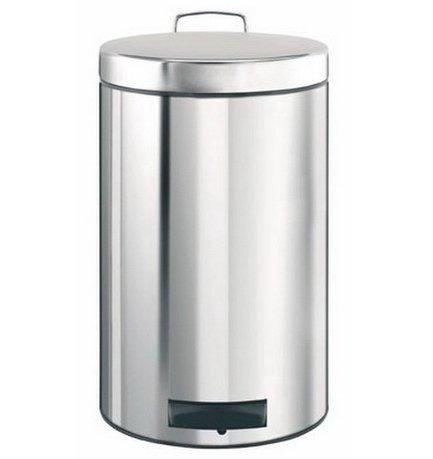 Ведро для мусора с педалью (12 л), 25х40х25х35 см, с металлическим ведром, стальное полированноеМусорные ведра<br>Для этого 12-литрового мусорного бака найдется место на любой кухне, подойдет он также для сбора мусора в любом другом помещении дома или офиса. Эта модель отличается практичностью. Бак вместителен, но вместе с этим, компактен и отлично помещается даже под столом. Крышка бака откидывается нажатием педали, и так же закрывается. Открывая бак вручную, вы сможете зафиксировать крышку в нужном положении. Сам корпус бака изготовлен из нержавеющей стали, что значительно увеличивает срок его эксплуатации. Крышка бака не пропускает запахи и закрывается тихо. Внутри контейнера есть съемное ведро, на которое надевается мусорный пакет. Для этой модели подходят пакеты размера С. Ведро легко вынимается, оно изготовлено из износостойкого металла и легко моется. В основании бака есть пластиковая защита, благодаря которой металлический контейнер аккуратно ставится и защищает пол от появления царапин. При необходимости контейнер можно передвинуть или перенести за прочную боковую ручку.<br><br>Серия: Pedal Bin