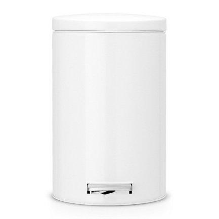 Ведро для мусора с педалью (12 л) МС, 40х35х25 см, белоеМусорные ведра<br>Для этого 12-литрового мусорного бака найдется место на любой кухне, подойдет он также для сбора мусора в любом другом помещении дома или офиса. Эта модель отличается практичностью. Бак вместителен, но вместе с этим, компактен и отлично помещается даже под столом. Металлическая крышка бака откидывается нажатием педали, и так же закрывается. Открытая вручную крышка остается в открытом положении. Сам корпус бака изготовлен из нержавеющей стали, что значительно увеличивает срок его эксплуатации. Крышка бака оснащена бесшумным механизмом MotionControl, благодаря этому она не пропускает запахи и закрывается очень тихо. Внутри контейнера есть съемное ведро, на которое надевается мусорный пакет. Для этой модели подходят пакеты размера С. Ведро легко вынимается, оно изготовлено из прочного пластика и легко моется. В основании бака есть пластиковая защита, благодаря которой металлический контейнер аккуратно ставится и защищает пол от появления царапин. При необходимости контейнер можно передвинуть или перенести за прочную боковую ручку.<br><br>Серия: Pedal Bin