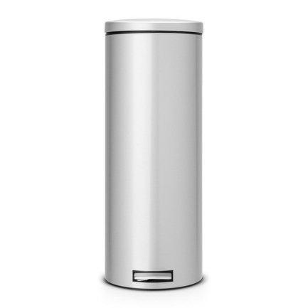 Мусорный бак с педалью Slim (20 л) MC, 66х35х25 см, серый металлик