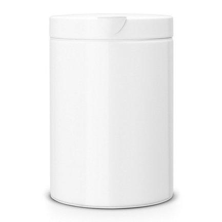 Мусорный бак настенный (3 л), 25х16.8х22.6 см, белыйМусорные ведра<br>Бак для сбора мусора Brabantia хорошо подходит для туалета и ванной комнаты. Его главная особенность в том, что крышка приподнимается легким движением руки - бесшумно и аккуратно. Корпус и крышка бака изготовлены из нержавеющей стали. Внутри есть съемное пластиковое ведро – практичное, износостойкое и хорошо моется. В ведро помещается пластиковый мусорный пакет (подходит размер А), который удобно вставлять и вынимать благодаря тому, что крышка легко снимается с бака. Корзину для мусора можно ставить на любое напольное покрытие, на дне бака есть пластиковый защитный обод, который защищает пол от царапин. Также бак можно прикрепить на кронштейн к стене. Кронштейн из нержавеющей стали поставляется в комплекте.<br>
