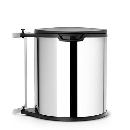 Ведро для мусора (15 л) встраиваемое, 30.2х34.7х29.3х30 см, стальное полированное