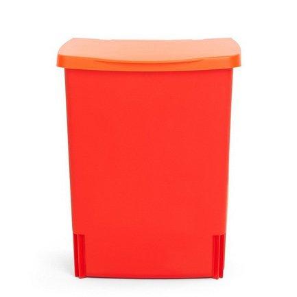 Ведро для мусора квадратное Binny (10 л), встраиваемое, 33х25.7х21.2 см, красная помадаМусорные ведра<br>Квадратный пластиковый контейнер Binny – многофункциональный, компактный и очень удобный предмет, которому обязательно найдется место в вашем доме. Binny можно использовать как традиционное мусорное ведро на кухне или в ванной комнате. Благодаря специальной пластиковой подставке вы сможете прикрепить этот мусорный бак к дверце любого кухонного шкафа. И в любой момент вы сможете достать бак из подставки, чтобы вынуть из него пакет с мусором или помыть. Кроме того, контейнер можно использовать как органайзер, прикрепив его к стене любого помещения. Это может быть гараж, кладовая, коридор или даже детская комната. Мусорный бак плотно закрывается крышкой. Для контейнера Binny подходят мусорные пакеты размера С.<br><br>Серия: Built-in Bin