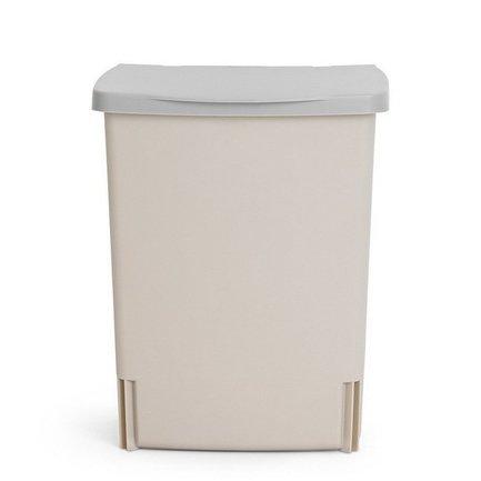 Ведро для мусора квадратное Binny (10 л), встраиваемое, 33х25.7х21.2 см, сероеМусорные ведра<br>Квадратный пластиковый контейнер Binny - многофункциональный, компактный и очень удобный предмет, которому обязательно найдется место в вашем доме. Binny можно использовать как традиционное мусорное ведро на кухне или в ванной комнате. Благодаря специальной пластиковой подставке вы сможете прикрепить этот мусорный бак к дверце любого кухонного шкафа. И в любой момент вы сможете достать бак из подставки, чтобы вынуть из него пакет с мусором или помыть. Кроме того, контейнер можно использовать как органайзер, прикрепив его к стене любого помещения. Это может быть гараж, кладовая, коридор или даже детская комната. Мусорный бак плотно закрывается крышкой. Для контейнера Binny подходят мусорные пакеты размера С.<br><br>Серия: Built-in Bin