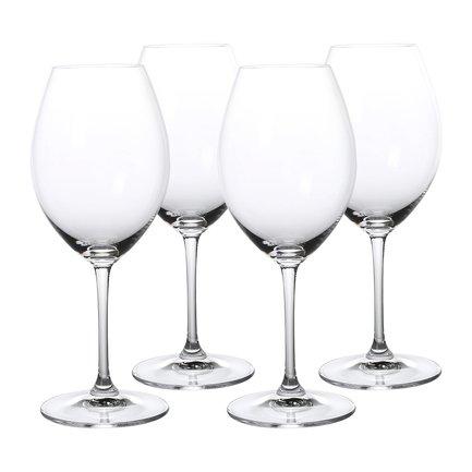 Набор бокалов для красного вина 3-Get 4 Syrah (590 мл), 4 шт.Бокалы для красного вина<br>Объем бокала 590 мл, высота 23.5 см. Хорошее красное вино лучше пить в приятной компании. Для этого необходим набор элегантных бокалов, который позволит вам насладиться раскрывшимся вкусом и ароматом вина. Эти хрустальные бокалы с широким дном украсят и подчеркнут изысканность любой сервировки.<br><br>Серия: Vinum XL