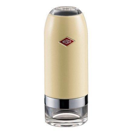 Мельница для соли и перца, 6х16 см, слоновая кость (322774-23)Мельницы для перца, соли, специй<br>Эта мельница для специй - новинка от компании Wesco - предназначена для измельчения соли, перца, различных специй и сухих трав. Благодаря встроенному механизму CrushGrind из высококачественной керамики мельница отлично справляется и с грубым и с тонким помолом. Керамический механизм прочный и долговечный. Для выбора подходящей степени помола на корпусе мельницы есть вращающееся кольцо. Мельницу легко мыть и разбирать. Чтобы наполнить специями контейнер из прозрачного акрила, нужно снять металлическую часть корпуса.<br>