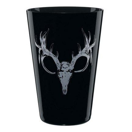 Стакан Skull Рога (0.41 л), 10.7 смСтаканы<br>Вместительный стакан классической формы притягивает к себе внимание с первого взгляда. Изготовленный из бессвинцового хрусталя черный глянцевый стакан понравится любителям необычного дизайна. Он универсально подходит как к алкогольным напиткам, так и к безалкогольным напиткам со льдом.<br>